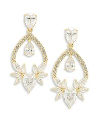 Nadri | Metallic Cubic Zirconia Chandelier Earrings | Lyst