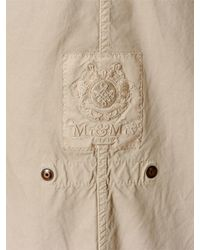 Mr & Mrs Italy - Natural Cotton Canvas Parka With Murmansky Fur - Lyst