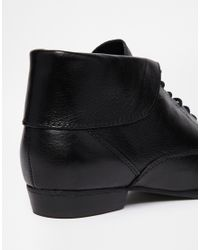 ALDO - Black Jons Leather Ankle Boots - Lyst