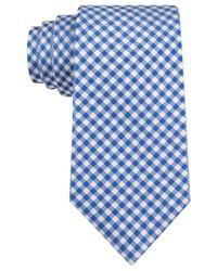 Michael Kors - Blue Michael Capri Gingham Tie for Men - Lyst