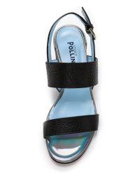 Studio Pollini - Block Heel Sandals - Black - Lyst