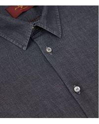 7 For All Mankind - Black Slim Fit Denim Shirt for Men - Lyst