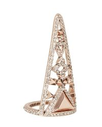 House of Harlow 1960 | Pink Tres Tri Finger Ring | Lyst