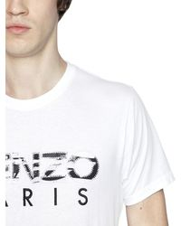 KENZO - White Cotton T-shirt With Printed Logo Patches for Men - Lyst