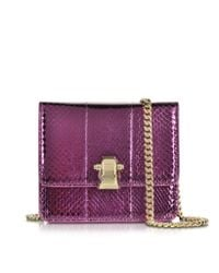 Roberto Cavalli | Purple Flap Mini Orchid Metallic Ayers Leather Shoulder Bag | Lyst