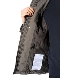 Stone Island - Green Padded Coated David Tc Field Jacket for Men - Lyst