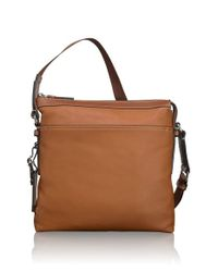 Tumi | Brown 'mission - Bartlett' Leather Crossbody Bag for Men | Lyst