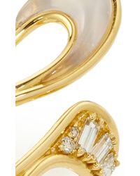 Fernando Jorge - Metallic Stream Long Ring In Diamonds & Milky Quartz - Lyst