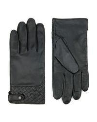 Ted Baker - Black Woven Leather Gloves for Men - Lyst