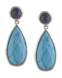 Karen Kane | Blue Urban Jungle Drop Earrings | Lyst