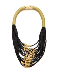 Holst + Lee | Metallic Holst + Lee Night Sky Multi Strand Necklace - Black/Gold | Lyst
