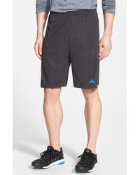 Adidas | Black 'supernova' Climachill Athletic Shorts for Men | Lyst