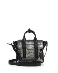 3.1 Phillip Lim - Pashli Mini Metallic Leather Satchel - Lyst