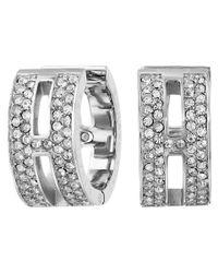 Michael Kors | Metallic Pave Maritime Huggie Earrings | Lyst