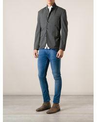 Barena - Gray Button Down Jacket for Men - Lyst