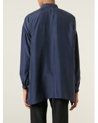 Burberry Brit | Blue Oversized Collar Blouse | Lyst