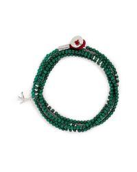 Isaia | Green 'saracino' Bead Wrap Bracelet | Lyst