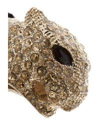 Roberto Cavalli - Metallic Goldtone Crystal and Enamel Cuff - Lyst