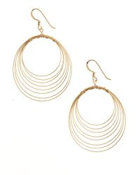 Lord & Taylor | Metallic 18 Kt Gold Over Sterling Silver Orbital Wire Earrings | Lyst