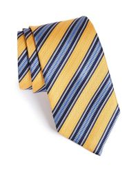 JZ Richards - Blue Stripe Silk Tie for Men - Lyst