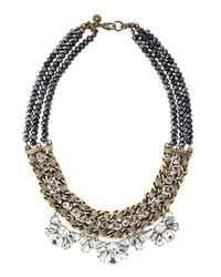 Lydell NYC - Multicolor Beaded Crystal Statement Necklace - Lyst