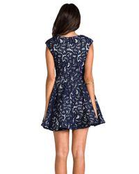 Nicholas - Blue V-Neck Dress - Lyst