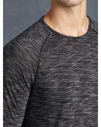 John Varvatos - Black Space-dyed Raglan Long-sleeve Sweater for Men - Lyst