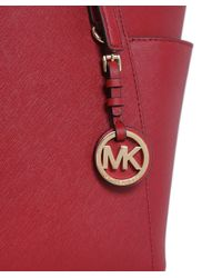 MICHAEL Michael Kors | Red Jet Set Tote Bag | Lyst
