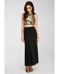Forever 21 - Metallic Ornate Sequined Crop Top - Lyst