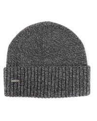 DSquared² - Gray Knit Beanie for Men - Lyst