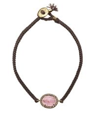 Brooke Gregson | Pink Tourmaline And Diamond Silk Bracelet | Lyst