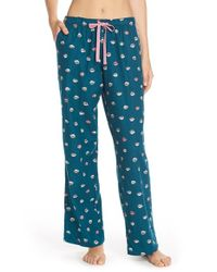 Jane & Bleecker New York | Blue Print Flannel Pajama Pants | Lyst