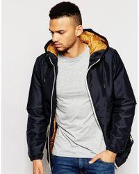 Jack & Jones | Black Hooded Coat for Men | Lyst