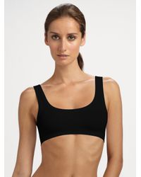 Hanro - Black Touch Feeling Crop Top - Lyst