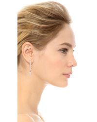 Rebecca Minkoff | Metallic Mismatch Earrings - Rhodium | Lyst