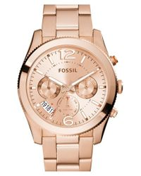 Fossil | Metallic 'perfect Boyfriend' Multifunction Bracelet Watch | Lyst
