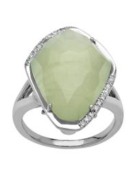 Lord & Taylor | Green Sterling Silver Pyrite Ring With Diamonds | Lyst