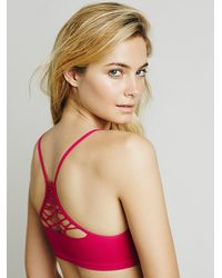 Free People - Pink Baby Racerback - Lyst
