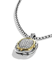 David Yurman - Metallic Labyrinth Small Pendant With Diamonds & Gold - Lyst
