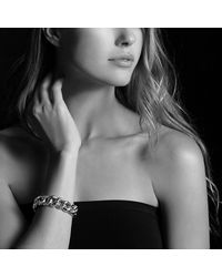 David Yurman | Metallic Belmont Curb Link Bracelet With Diamonds In 18k Gold, 18mm | Lyst