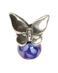 Trollbeads | Purple Summer Silver Butterfly Bead | Lyst