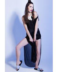 Sixtyseven - Metallic Ariel Pool Slide Rubber Sandals - Lyst