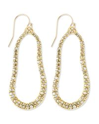 Alexis Bittar | Metallic Large Golden Swarovski Crystal Oval Earrings | Lyst