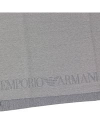 Emporio Armani | Gray Scarf for Men | Lyst