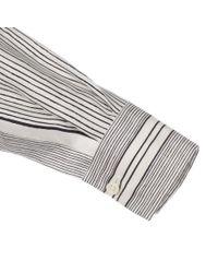 Paul Smith - Women'S White Hand-Drawn Stripe Oversized Silk Shirt - Lyst