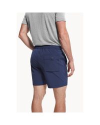 Theory | Blue Tech Swim Short for Men | Lyst