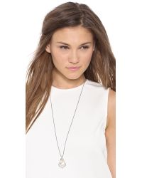 Chan Luu - Natural Crystal Pendant Necklace Cream Pearl - Lyst