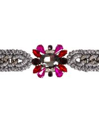 Venessa Arizaga - Pink Gunmetal Flower in The Sun Bracelet - Lyst