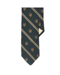 Polo Ralph Lauren | Green Wool-silk Club Narrow Tie for Men | Lyst