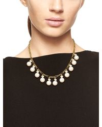 kate spade new york - Metallic Pearly Delight Necklace - Lyst